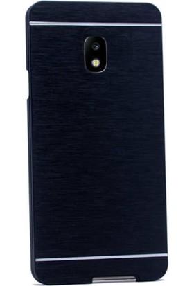 Gpack Samsung Galaxy J3 Pro 2017 Kılıf Metal Motomo Nano Glass Siyah