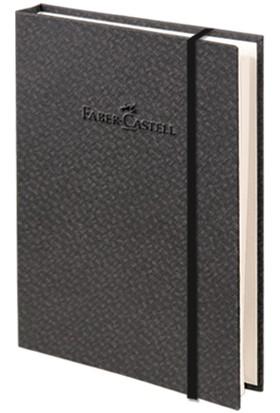 Faber-Castell Bambu Serisi A6 Ciltli Çizgisiz Defter Koyu Gri100 Yaprak