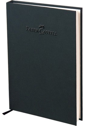 Faber-Castell Natural Seri A5 Ciltli Çizgisiz Defter Kömür Grisi 140 Yaprak