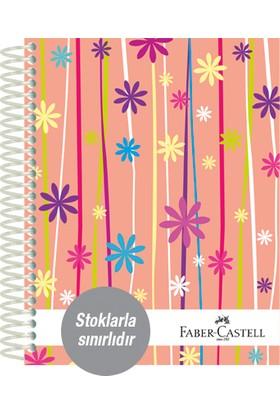 Faber-Castell Sert Kapak Sep.4+1 Çiçekler Defter 80gr 200 Yaprak (stoklarla sınırlıdır)