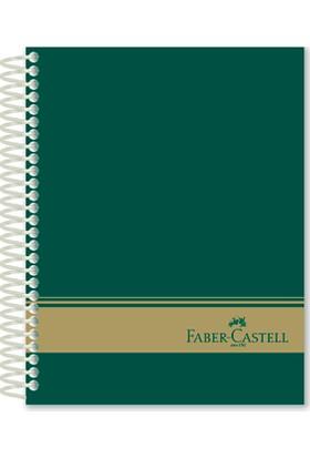 Faber-Castell Sert Kapak Seperatör 3+1 Yeşil Defter 120 Yaprak (stoklarla sı