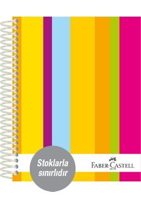 Faber-Castell Sert Kapak Sep.3+1 Renkli Çizgiler Defter 160 Yaprak