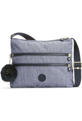 Kipling Alvar Basic Plus Omuz Çantası Denim K12472-F27