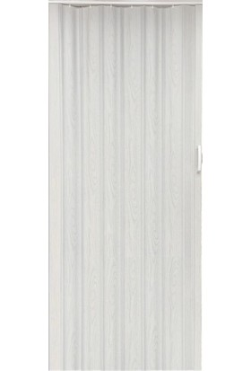 Decotex İnce Akordiyon Kapı Dişbudak Beyaz 85x203 PVC Katlanır Kapı 0,6mm Kalınlıkta