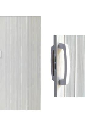 Decotex Akordiyon Kapı Dişbudak Beyaz 85x203 PVC Katlanır Kapı