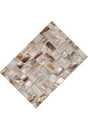 Cici Halı Taş Döşeme Lastikli Halı Örtüsü - 120 x 180 cm