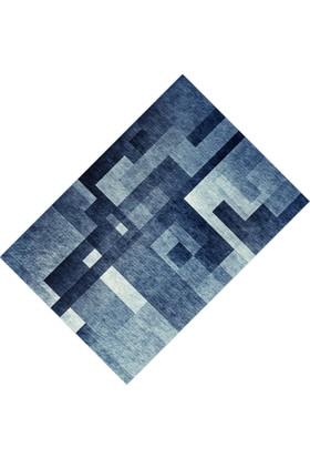 Cici Halı Alacalı Koyu Labirent Desen Lastikli Halı Örtüsü - 120 x 180 cm
