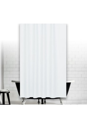 Zethome Jackline Banyo Duş Perdesi 0010 Beyaz Çift Kanat 2X120x200