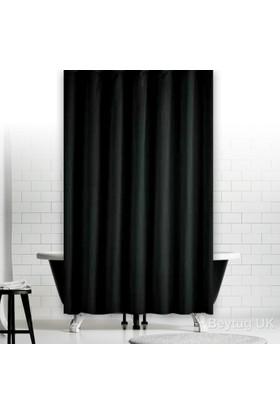 Zethome Jackline Banyo Duş Perdesi 0010 Siyah Çift Kanat 2X120x200