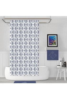 Zethome Jackline Banyo Duş Perdesi 1481 Çift Kanat 2x120