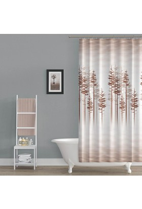 Zethome Tropik Banyo Duş Perdesi 3390 Çift Kanat 2x120x200