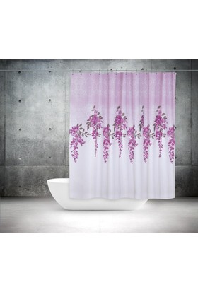 Zethome Tropik Banyo Duş Perdesi 7359 Çift Kanat 2X120x200