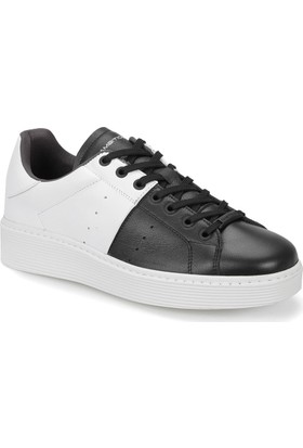 Ambitious 7090 Siyah Beyaz Erkek Deri Ayakkabı