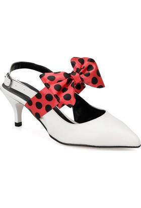 Butigo Cute01Z37Z Beyaz Fuşya Kadın Ökçeli Ayakkabı