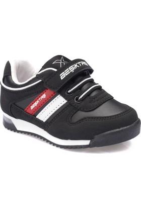 Bjk Femand Pu Bjk Siyah Beyaz Kırmızı Erkek Çocuk Sneaker Ayakkabı