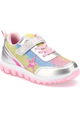 Kinetix Sima Gümüş Açık Pembe Kız Çocuk Sneaker Ayakkabı