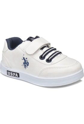 U.S. Polo Assn. Cameron Wt Beyaz Erkek Çocuk Sneaker Ayakkabı