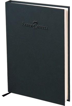 Faber-Castell Natural Seri A5 Ciltli Çizgili Defter Kömür Grisi 140 Yaprak