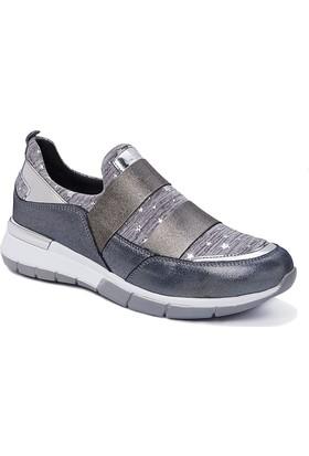 Beta Deri-Tekstil Kadın Ayakkabı-Antrasit