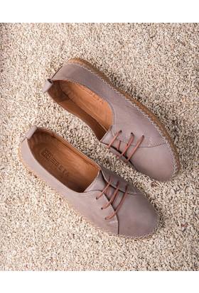 Beta Deri Kadın Ayakkabı-Vizon