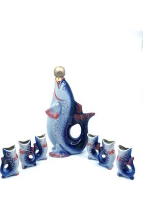Dilşen Porselen Balık Formunda Likör Takımı