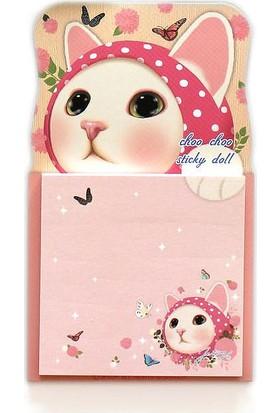 Jetoy Choo Choo Post-İt Doll Pink Hood