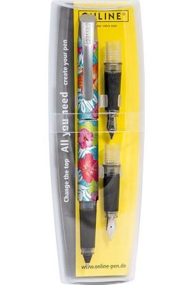 Online Campus Tropical Flower Roller-Dolma Kalem Seti 61196
