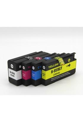 Premium® Hp Officejet Pro 8600 Plus Uyumlu Yüksek Kapasite 4 Renk Muadil Kartuş Seti