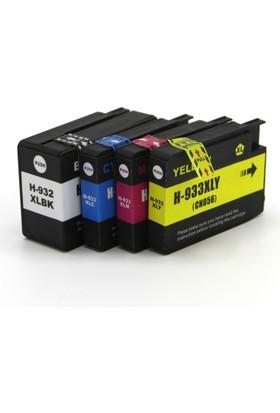Premium® Hp Officejet 7612 Uyumlu Yüksek Kapasite 4 Renk Muadil Kartuş Seti