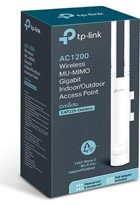 TP-Link EAP225 AC1200 Mbps Kablosuz MU-MIMO Gigabit Tavana Monte Edilen Dış Ortam Access Point