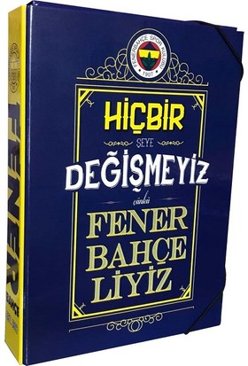 Fenerbahçe Lisanslı Kutu Klasör Lastikli Öğrenci Klasörü