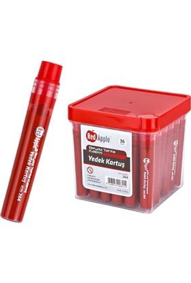 Red Apple Beyaz Tahta Kalemi Kartuşu Mürekkebi Kırmızı 36 Adet