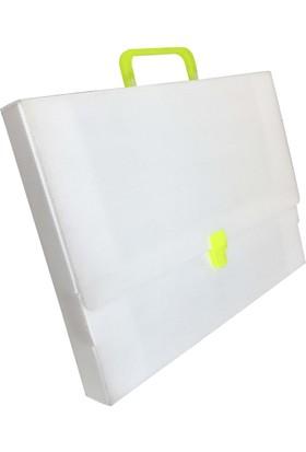 Üçgen 28x38 cm Beyaz Proje Çantası Resim Çantası 25x35