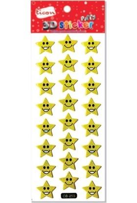 Ticon 3D Sticker Puffy 236159 (Kabartmalı) 3D-21