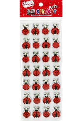 Ticon 3D Sticker Puffy 256033 (Kabartmalı) 3D-46