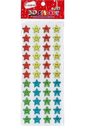 Ticon 3D Sticker Puffy 256035 (Kabartmalı) 3D-48