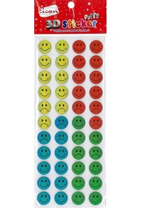 Ticon 3D Sticker Puffy 256034 (Kabartmalı) 3D-47
