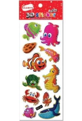 Ticon 3D Sticker Puffy 236177 (Kabartmalı) 3D-33