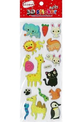 Ticon 3D Sticker Puffy 256037 (Kabartmalı) 3D-50