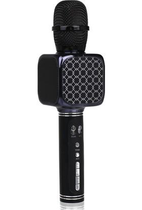 TechnoStyle Helyumlu İnce ve Kalın Ses Çıkaran Eğlenceli Karaoke Mikrofon Siyah
