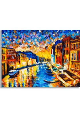 Diji Kanvas Venedik Yağlı Boya Kanvas Tablo