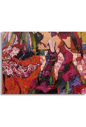 Diji Kanvas Çiçekli Kadınlar Yağlı Boya Kanvas Tablo