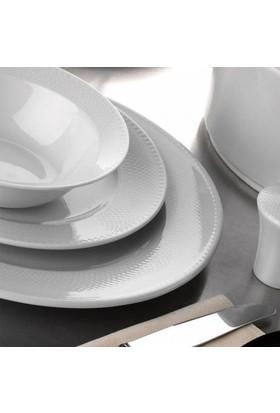 Kütahya Porselen Zümrüt Dekorsuz 12 Kişilik 53 Parça Yemek Takımı