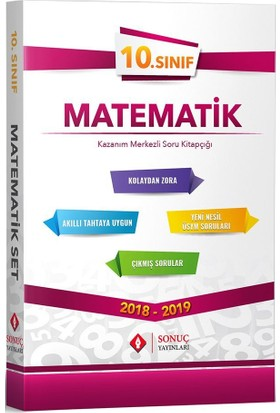 Sonuç Yayınları 10. Sınıf Matematik Kazanım Merkezli Soru Bankası Seti