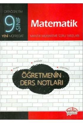 Editör Yayınları 9. Sınıf Matematik Öğretmenin Ders Notları