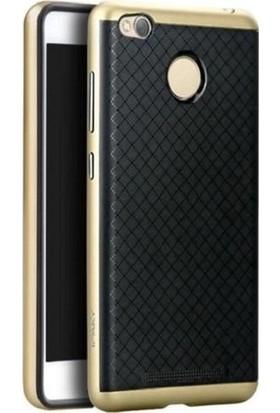 Case 4U Xiaomi Redmi 3 Pro Hybrid Korumalı İnce Arka Kapak Altın