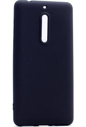 Case 4U Nokia 5 Premium Mat Silikon Kılıf Siyah