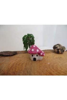 Green Wood Küçük Mantar Ev Biblo