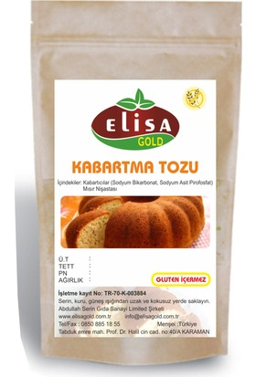 Elisa Gold Glutensiz Kabartma Tozu 1 kg