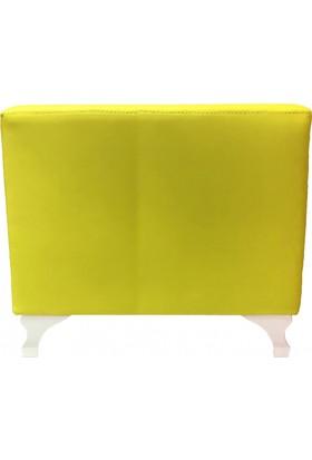 Mobilyapi Sarı Hafif Kare Puf 50x50